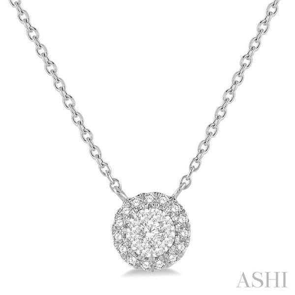 1/6 ctw Circular Pendant Round Cut Diamond Lovebright Necklace in 14K White Gold Trinity Diamonds Inc. Tucson, AZ