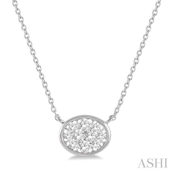 1/4 Ctw Oval Shape Pendant Lovebright Diamond Necklace in 14K White Gold Trinity Diamonds Inc. Tucson, AZ