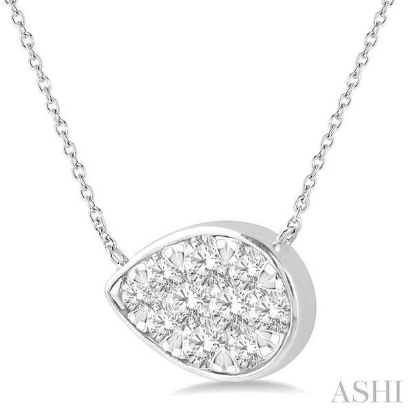 3/4 Ctw Pear Shape Pendant Lovebright Diamond Necklace in 14K White Gold Image 2 Trinity Diamonds Inc. Tucson, AZ