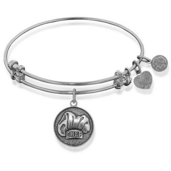 White Gold Chef Charm Bangle Vandenbergs Fine Jewellery Winnipeg, MB