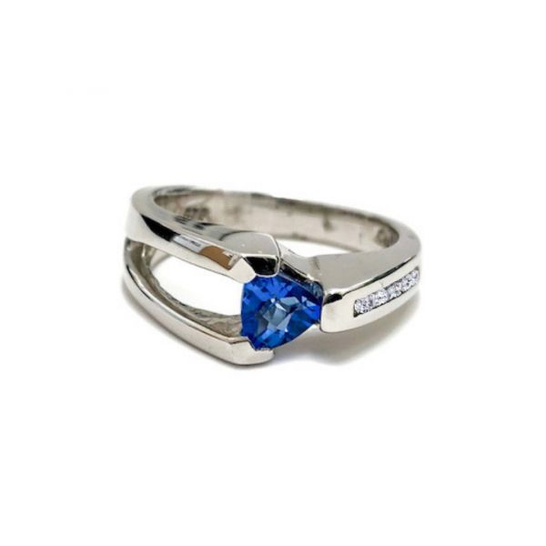 Sterling Silver Blue Topaz & White Sapphire Ring Vandenbergs Fine Jewellery Winnipeg, MB