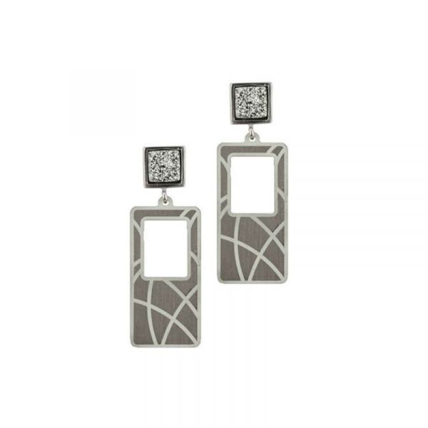 Sterling Silver Drusy Earrings Vandenbergs Fine Jewellery Winnipeg, MB