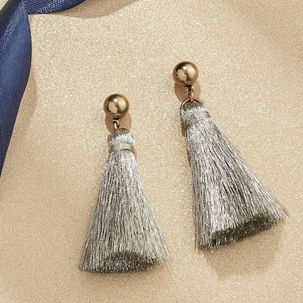 Silver Shimmer Mini Tassel Earrings Vandenbergs Fine Jewellery Winnipeg, MB