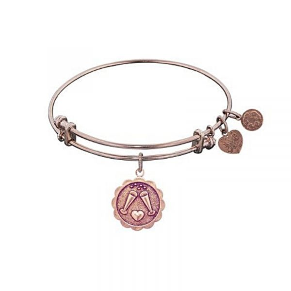 "Rose Gold ""Cheers"" Charm Bangle Vandenbergs Fine Jewellery Winnipeg, MB"