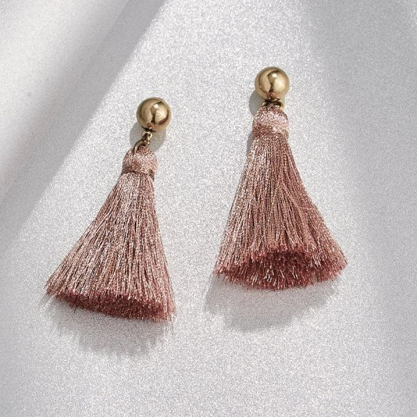 Blush Shimmer Mini Tassel Earrings Vandenbergs Fine Jewellery Winnipeg, MB