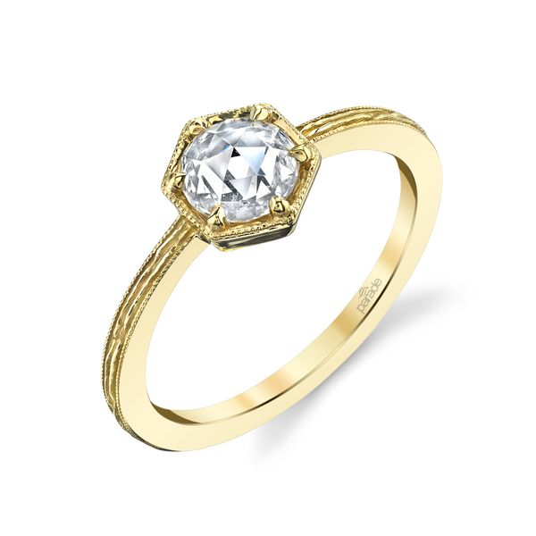 18K Yellow Gold Dia Eng Ring 1rc=0.40 t.w.