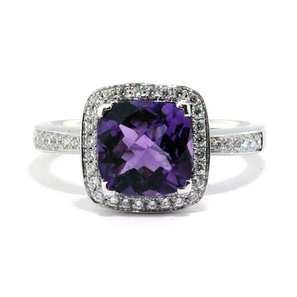 1.98ct.tw. Amethyst & Dia Ring     L5112/AME