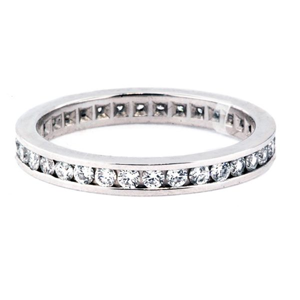 Platinum Eternity band 34=.61 FG-VS