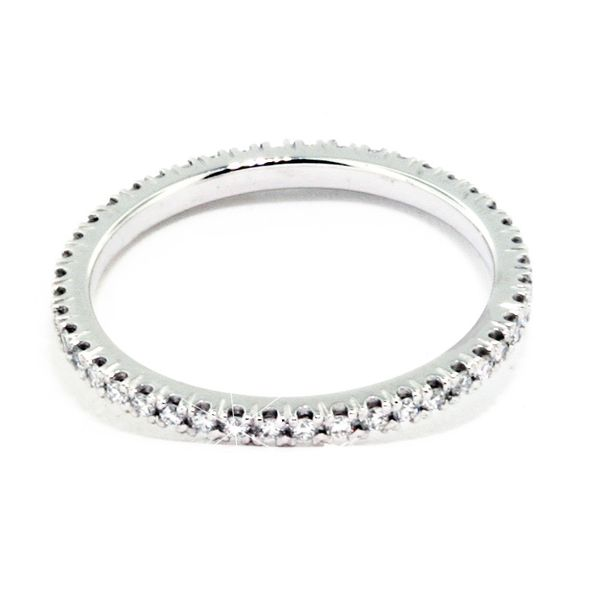 1.5mm Wide Plat Eter. Prong-Set Band 46=~.31cttw - image 2