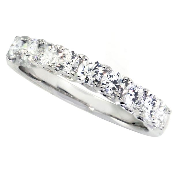 Platinum & Dia's Weave Design Wedd Band(9RBC=0.79cts tw)