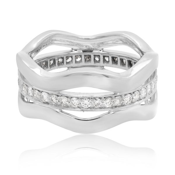 18kwg Kwiat Brand Wavy Dia. Wedding Band