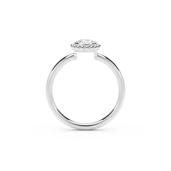 18kw .24ct Bezel Ring H SI1 - image 3