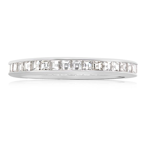 Plat Tiffany Eternity WB 39 Asscher=1.0ct F-G VS