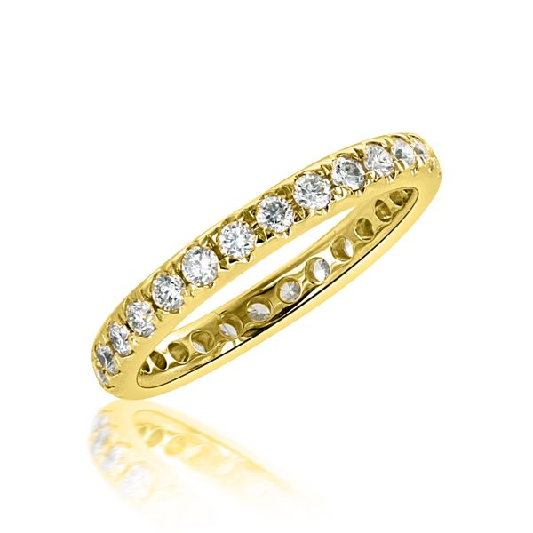 14k Yellow 28 round=.88cts Eternity - image 2