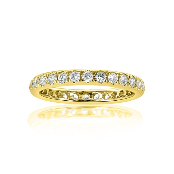 14k Yellow 28 round=.88cts Eternity - image 3