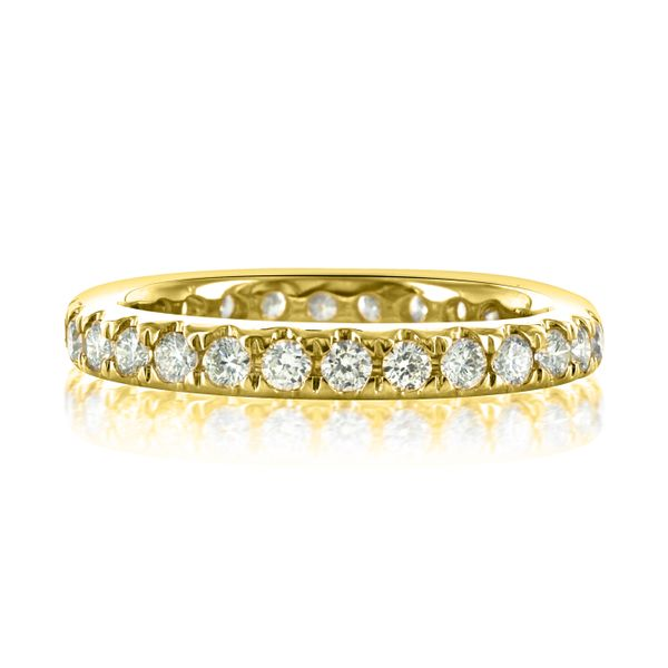 14k Yellow 28 round=.88cts Eternity