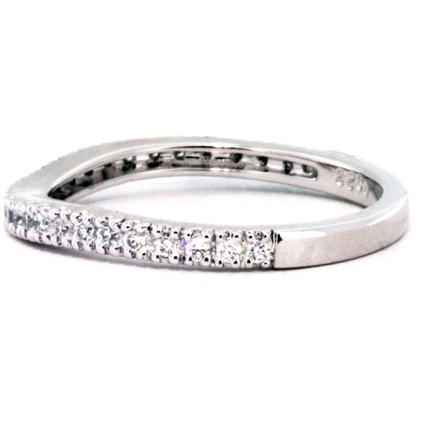 Plat Curved Band 28rds=.23ct tw - image 2
