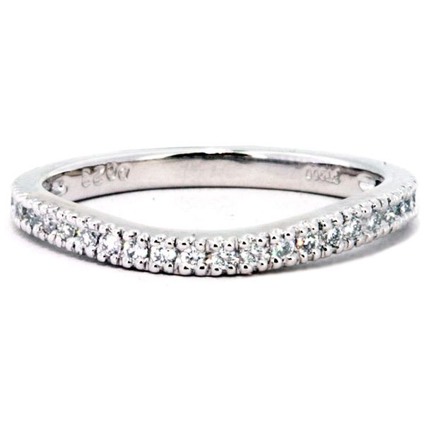 Plat Curved Band 28rds=.23ct tw