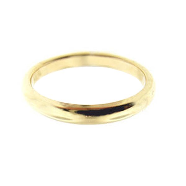 2.5 mm 18k Yellow Gold Wedding Band