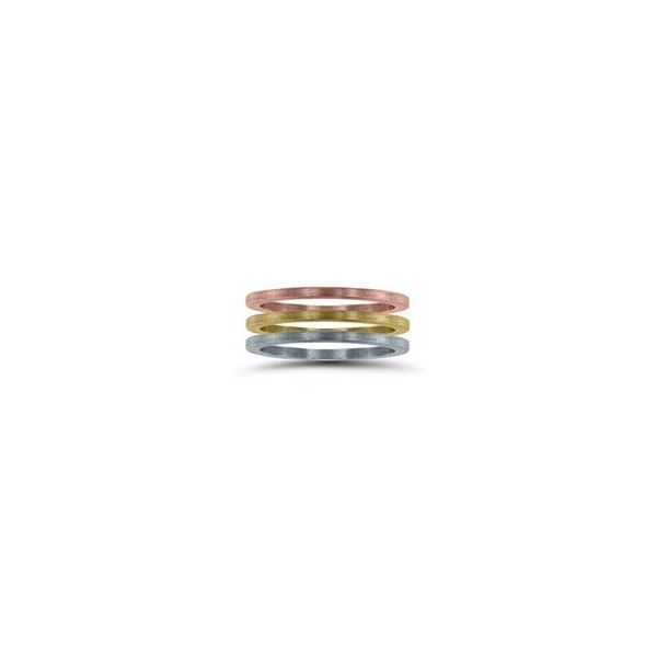 14K 1mm Textured Stackable Band