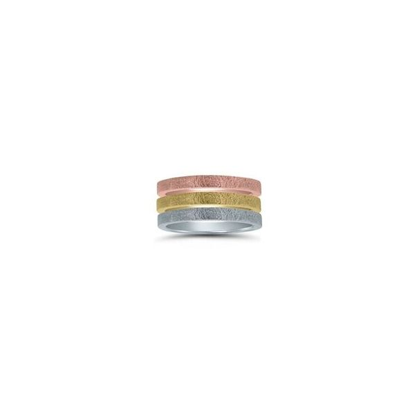 14KR 2mm Stackable Textured Band