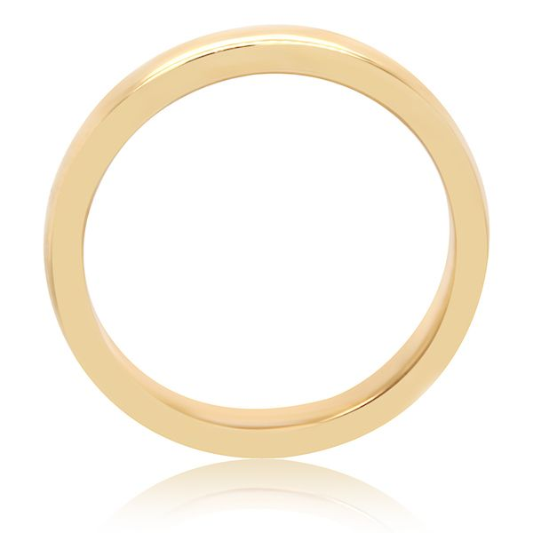 18kt Yellow 2.7mm 1/2 Rnd Comfort-Fit Classic - image 2