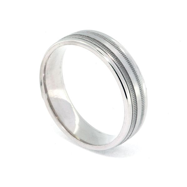 6mm Platinum Double Milgrain - image 2