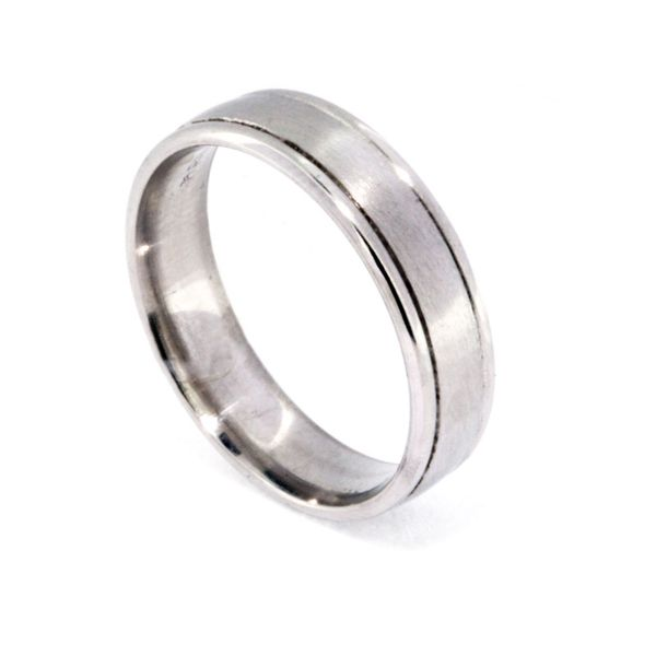 6mm Platinum Satin Center Band - image 2