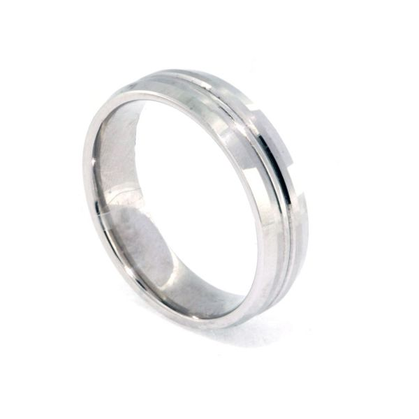 6mm Platinum Beveled Sides - image 2