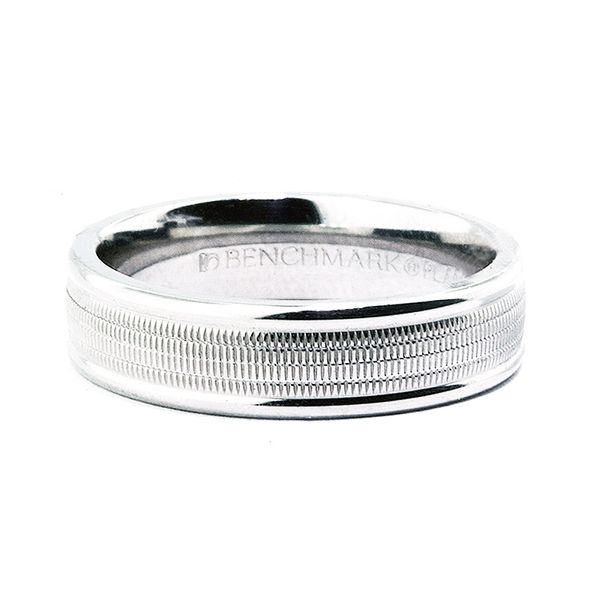 Platinum 6mm Multi-Milgrain Ctr Band- Polished Edges