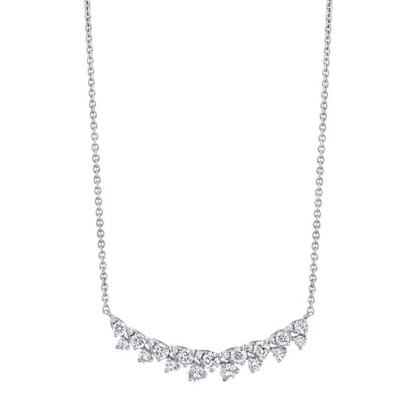 14kwg 17 Round Diamond Necklace=.60cts t.w.