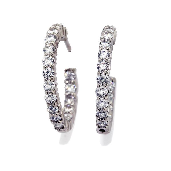 1.00 Carat In and Out Hoops 1.00ct t.w. GH-SI1