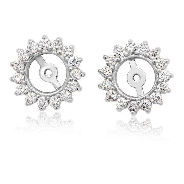 Plat Dia Earring Jackets 28rbc=0.45cttw G-SI - image 2