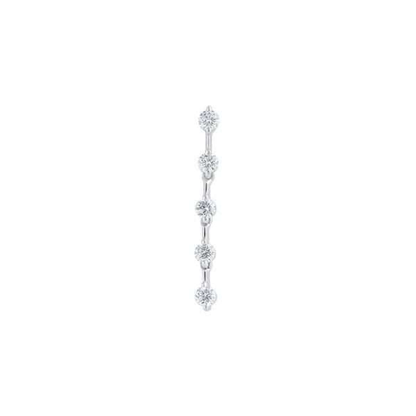 14kwg Diamond 5-Stone Drop Earrings .51cts - image 3