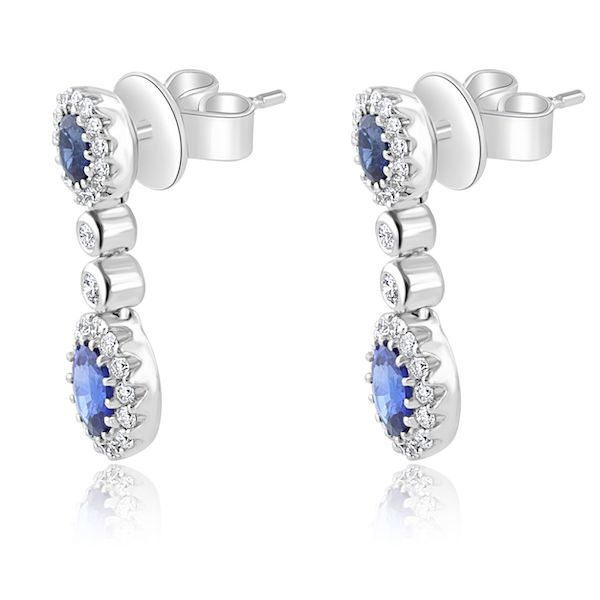 18kwg Sapp(4ov=1.27)&Dias(60rbc=.45) Drop Earrings - image 2