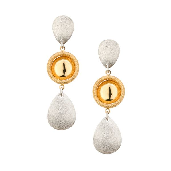 SS YELLOW GOLD PLATED SERENITY EARRINGS
