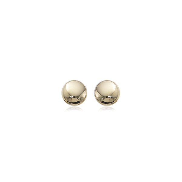 14ky 7mm Domed Ball Stud Earrings