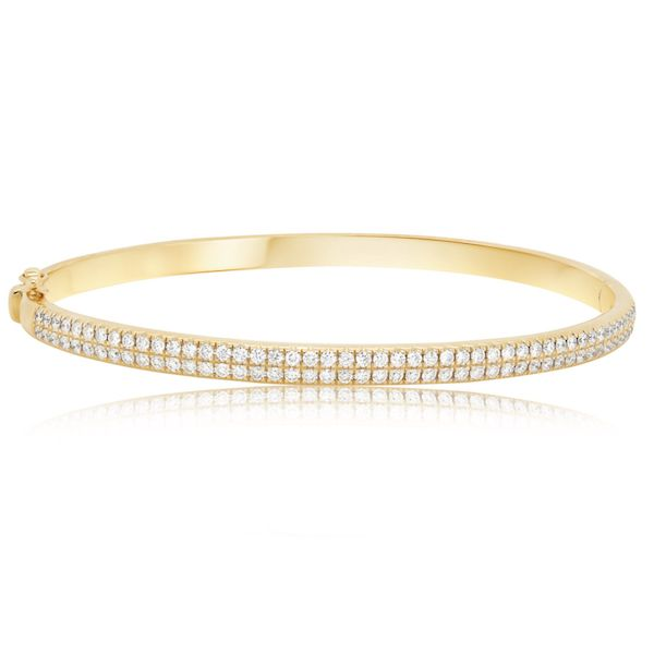 14kt Yellow Gold Bangle Bracelet 94rbc=1.01