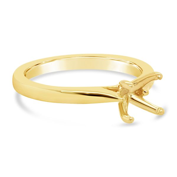 14kt Yellow Gold 4-Prong Ring Mtg for 1ct - image 2