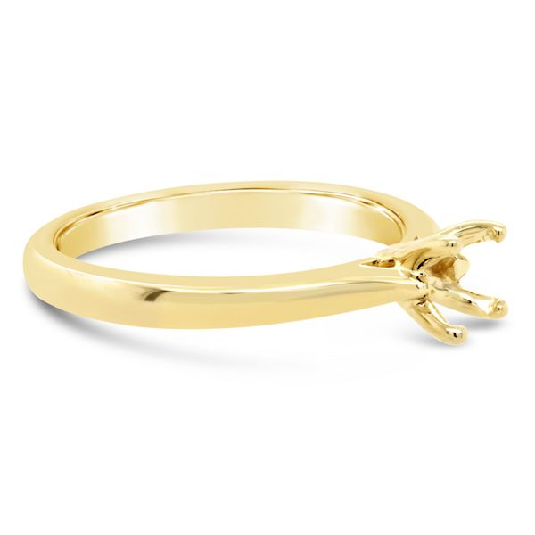 14kt Yellow Gold 4-Prong Ring Mtg for 1/2ct - image 2