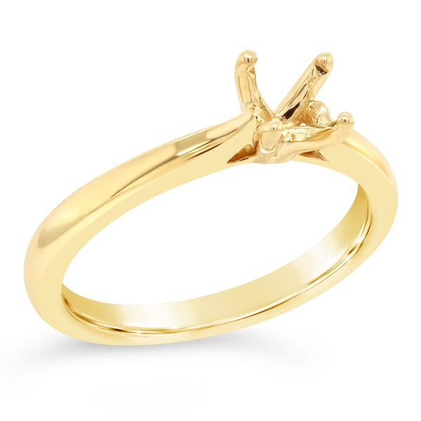 14kt Yellow Gold 4-Prong Ring Mtg for 1/2ct - image 3