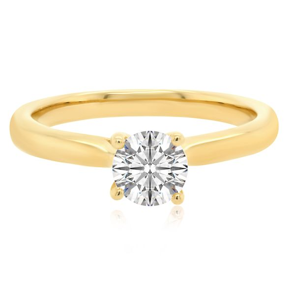 14kt Yellow Gold 4-Prong Ring Mtg for 1/2ct