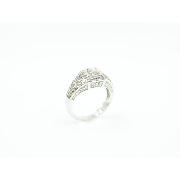 Diamond Filigree Ring Image 4 Wyatt's Jewelers Seattle, WA