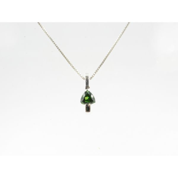 Triangle Chrome Diopside Pendant Wyatt's Jewelers Seattle, WA