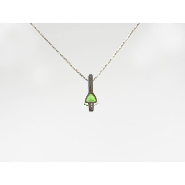 Triangle Chrome Diopside Pendant Image 2 Wyatt's Jewelers Seattle, WA