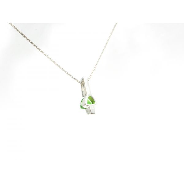 Triangle Chrome Diopside Pendant Image 3 Wyatt's Jewelers Seattle, WA