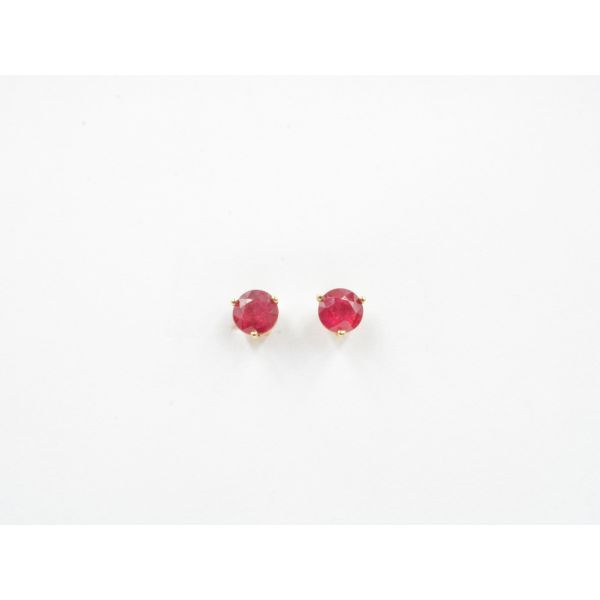 Ruby Stud Earrings Wyatt's Jewelers Seattle, WA