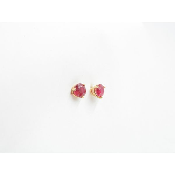 Ruby Stud Earrings Image 2 Wyatt's Jewelers Seattle, WA