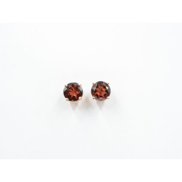 Rhodolite Garnet Basket Set Stud Earrings	 Wyatt's Jewelers Seattle, WA