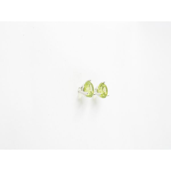 SunBurst Peridot Martini-Stud Earrings Image 2 Wyatt's Jewelers Seattle, WA